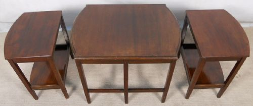 Mahogany Nest of Three Coffee Tables